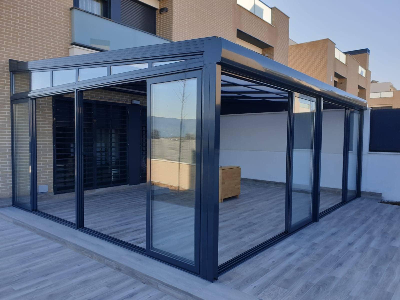 Cerramientos de terrazas de Aluminio